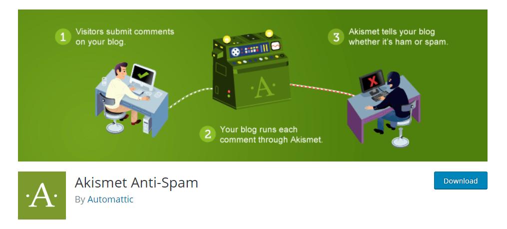 Akismet anti-spam - плагін від спаму для WordPress