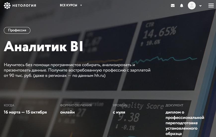 Аналітик BI - Нетологія