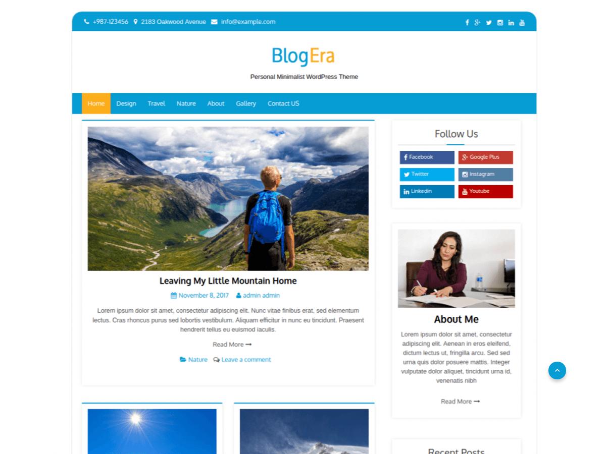 Blog Era - тема для блогу на Вордпресс