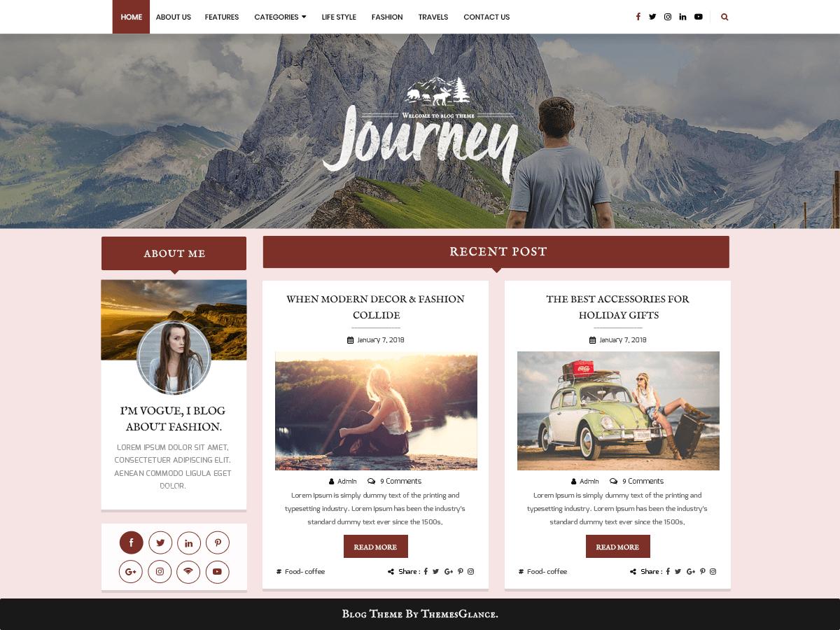 Blogger Hub - блогових шаблон для WordPress