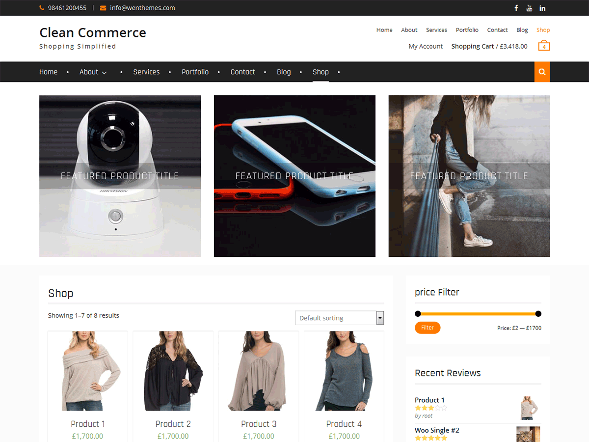 Clean Commerce - тема для інтернет-магазину WordPress