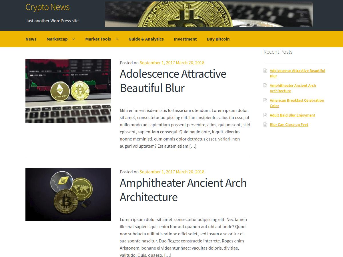Crypto News - безкоштовна тема WordPress для блогу про криптовалюта