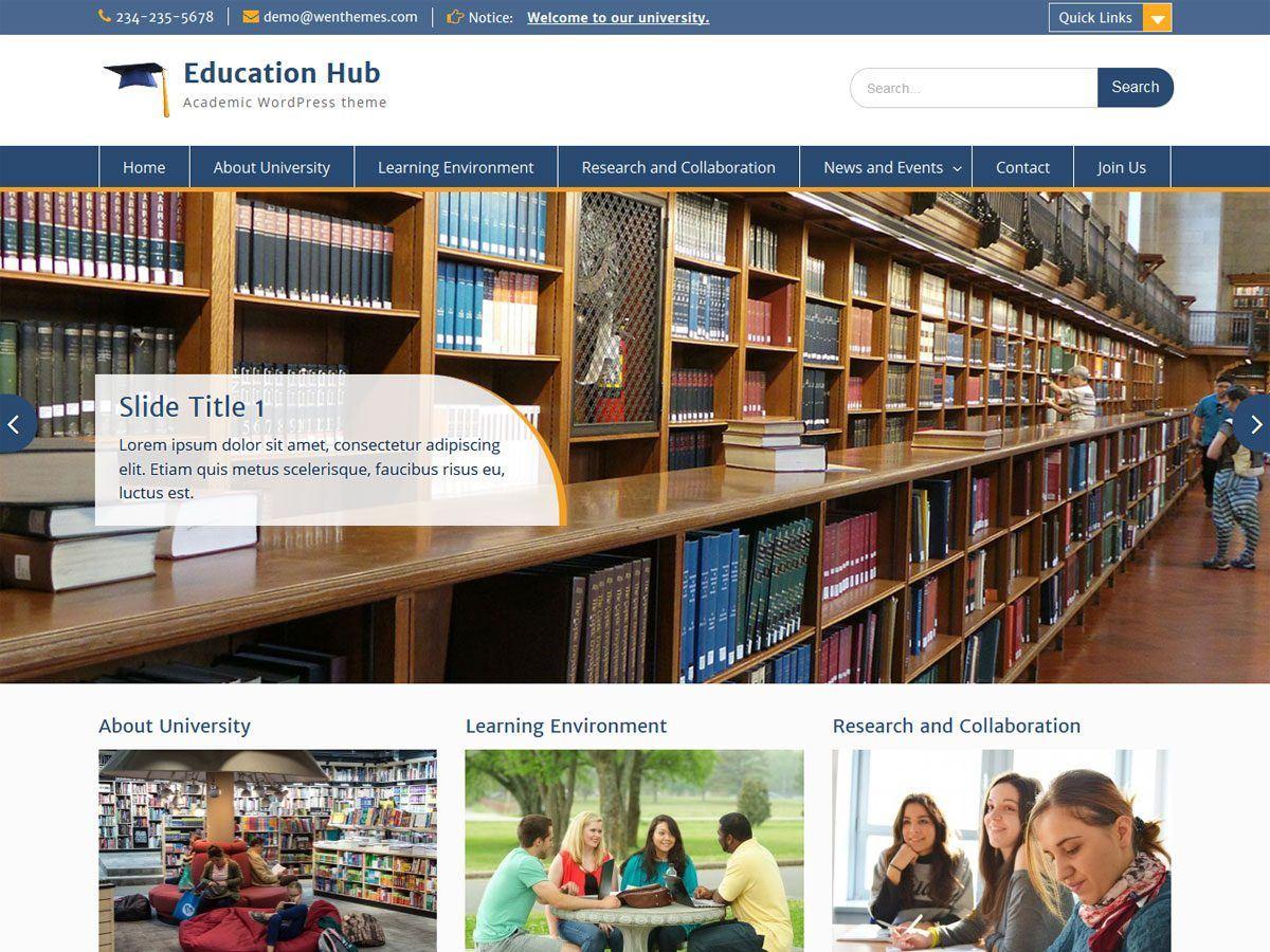 Education Hub - тематична блоговая тема ВП