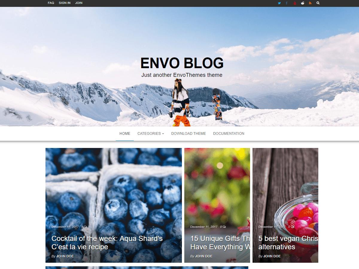 Envo Blog - блогових дизайн для WP