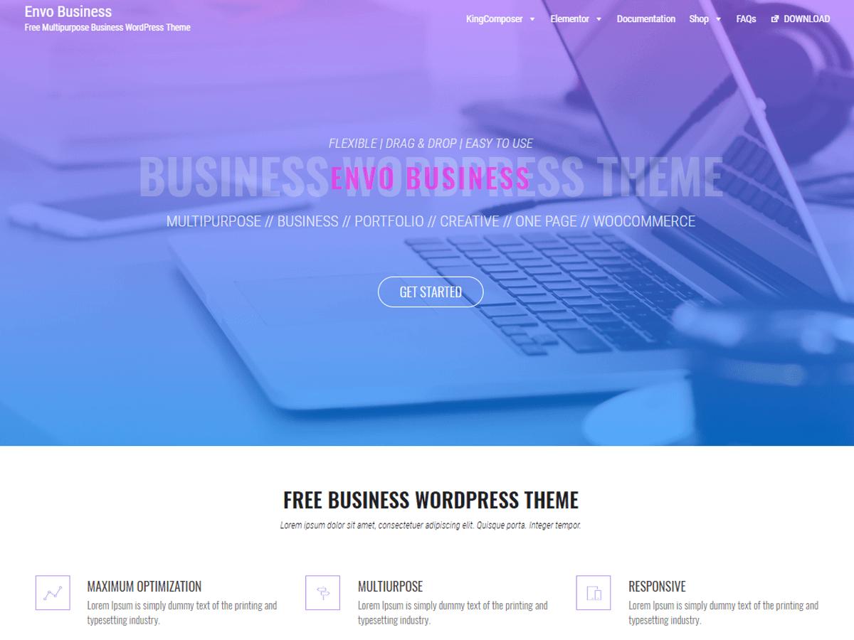 Envo Business - бізнес шаблон вордпресс