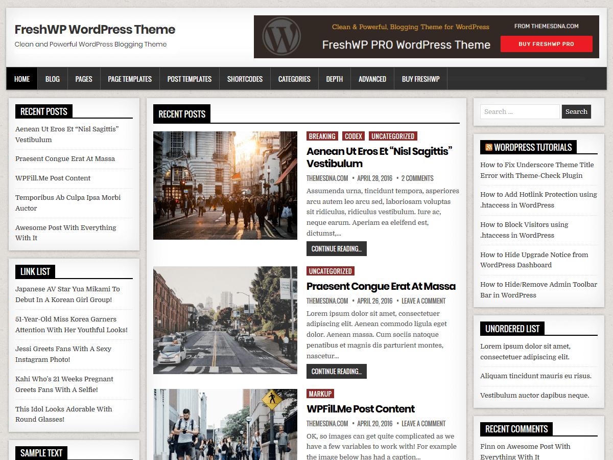 FreshWP - журнальна тема WordPress