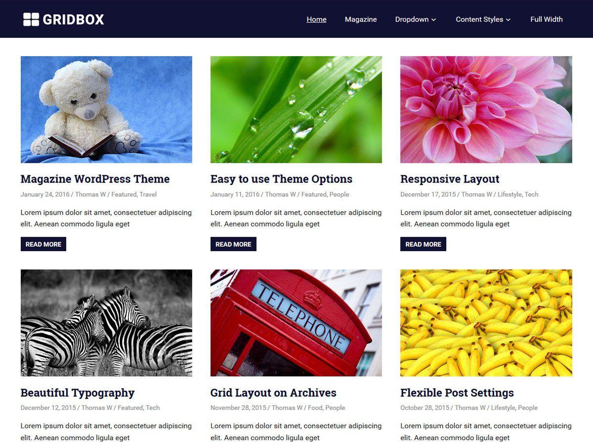 Gridbox - грідовий дизайн вордпресс