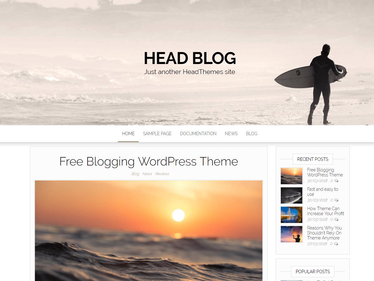 HeadBlog - блоговая тема оформлення