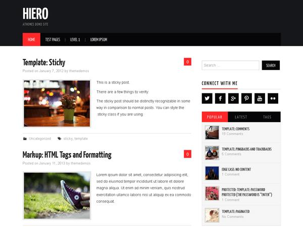 Hiero - дизайн для блогу на WP