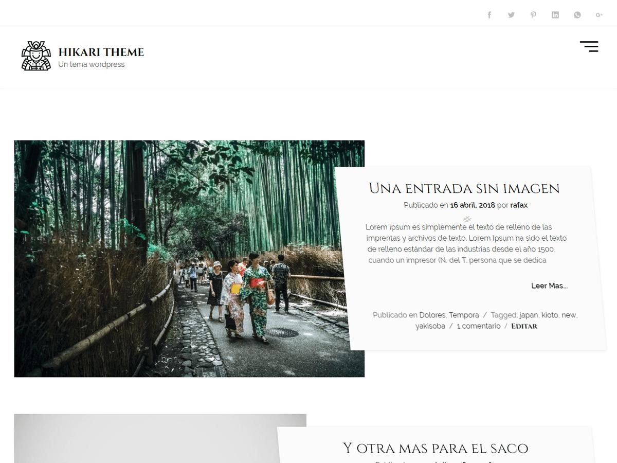 hikaru - стильний мінімалістичний дизайн