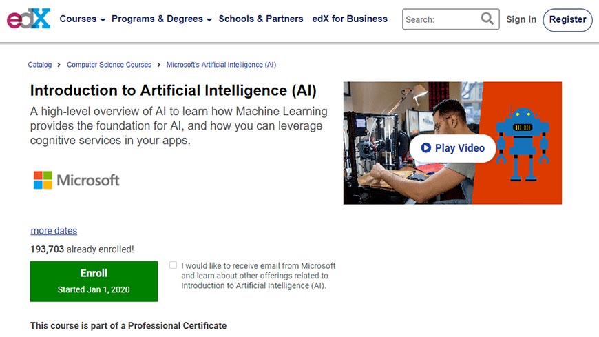 Introduction to Artificial Intelligence від Edx