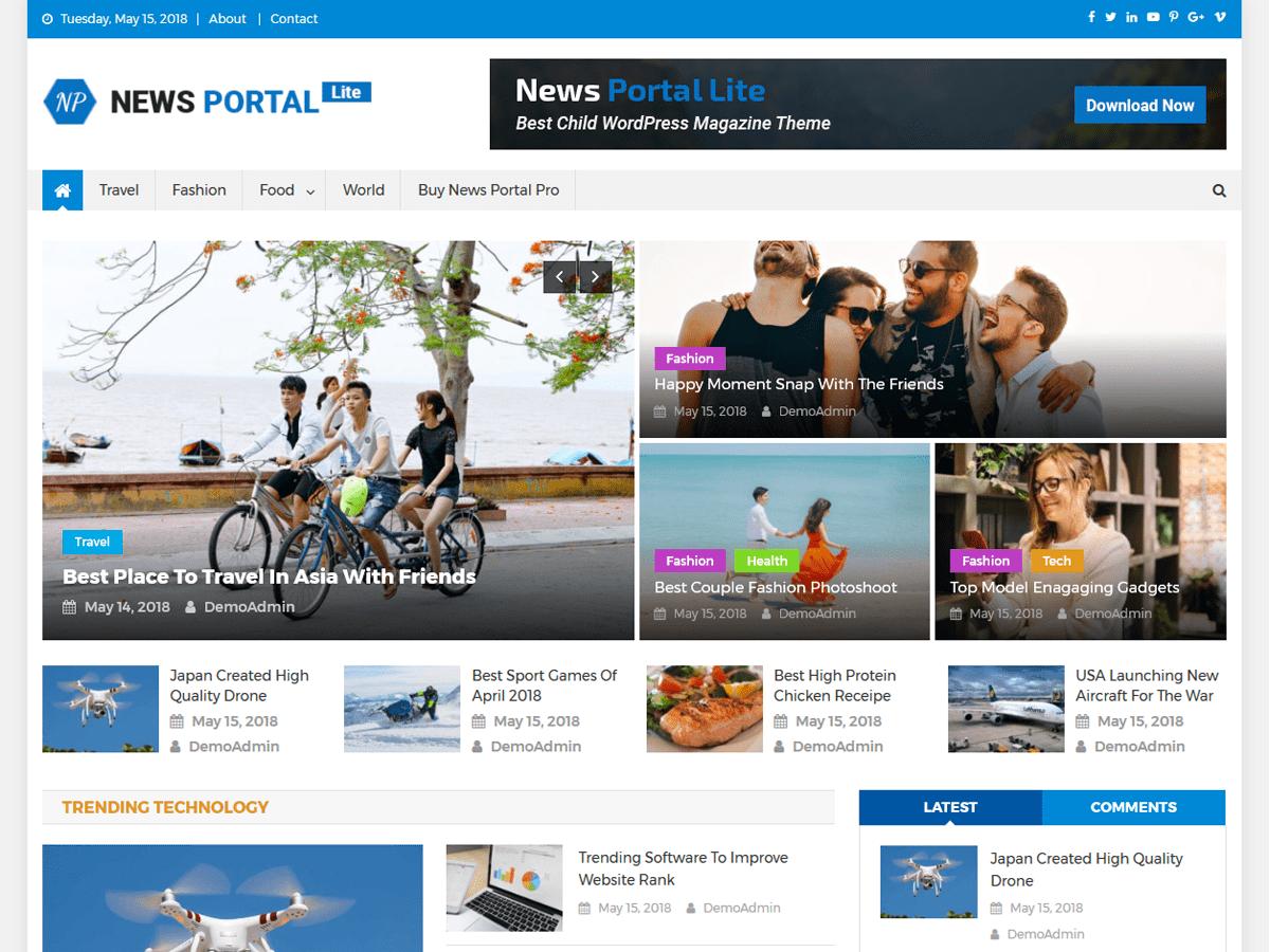News Portal Lite - новинна тема wordpress