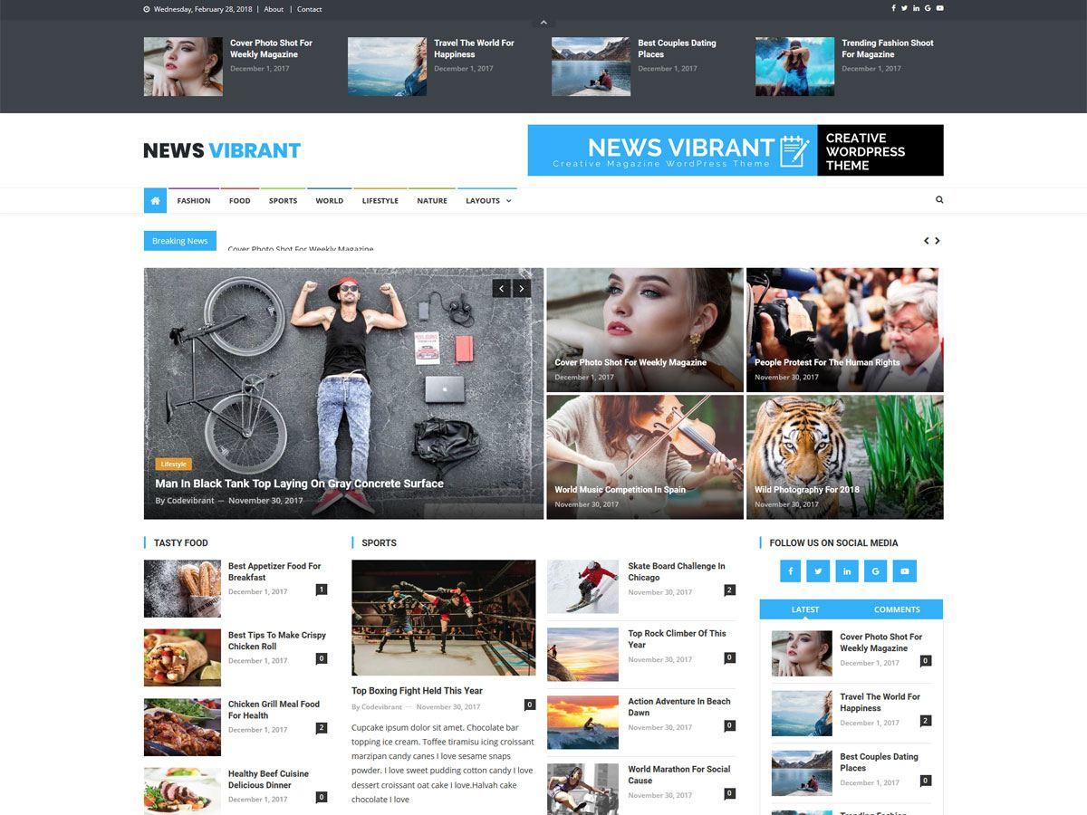 News Vibrant - новини на WordPress