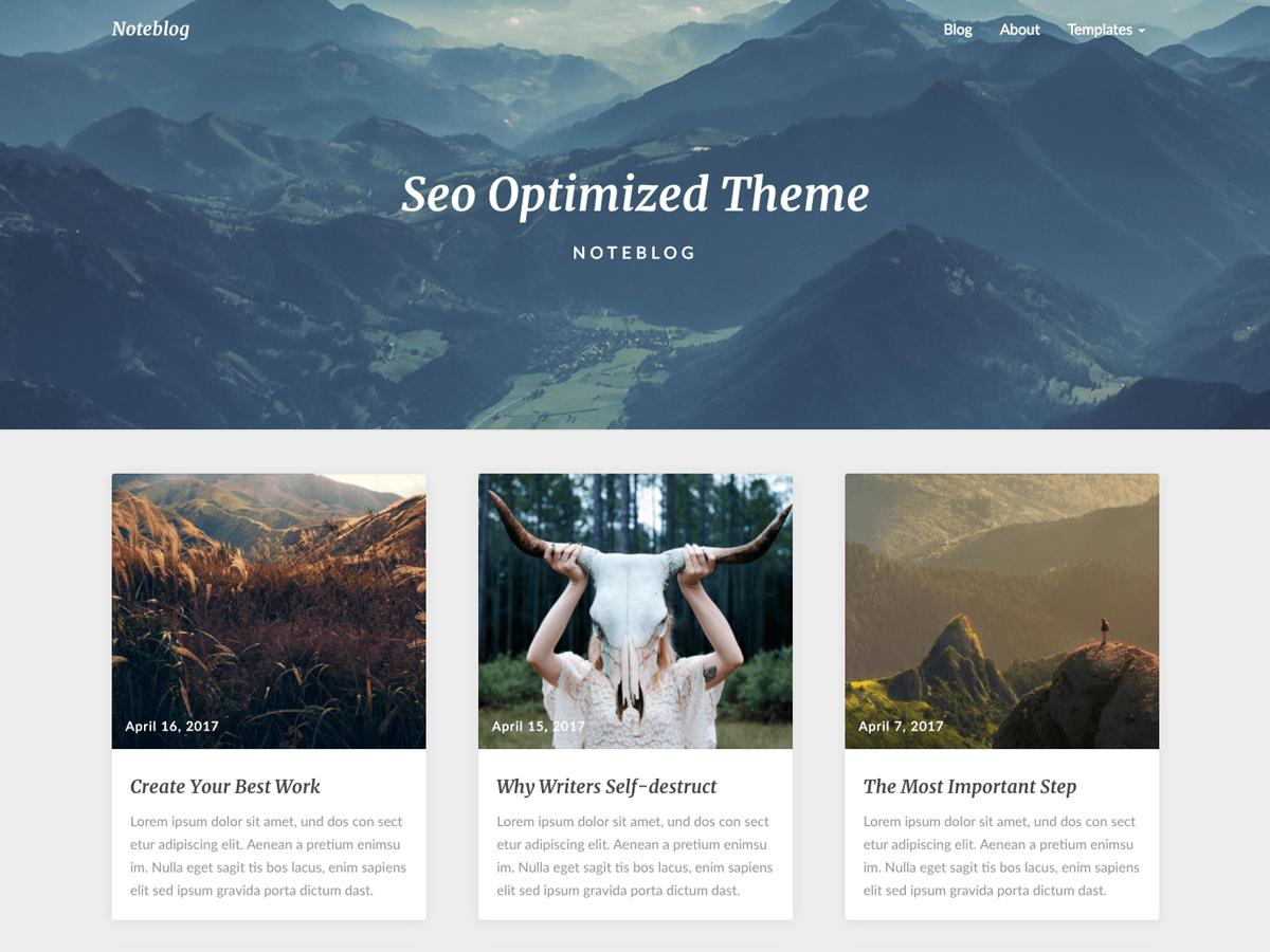 Noteblog - дизайн для сайту на WordPress