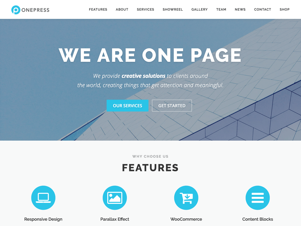 OnePress - гнучкий шаблон вп