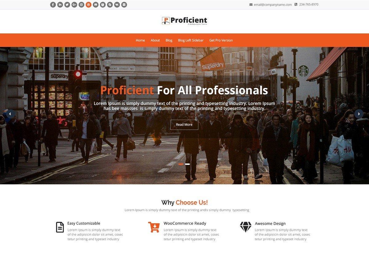 Proficient - помаранчевий дизайн для сайту