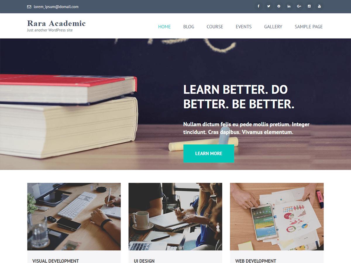 Rara Academic - освітній дизайн для WordPress
