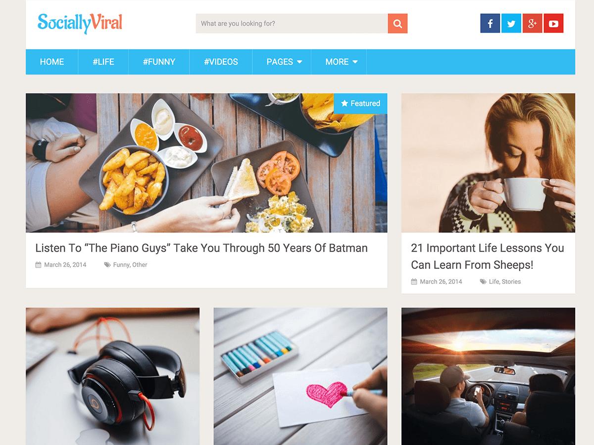 SociallyViral - безкоштовна тема ВП від MyThemeShop