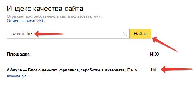 Дізнатися індекс якості чужого сайта