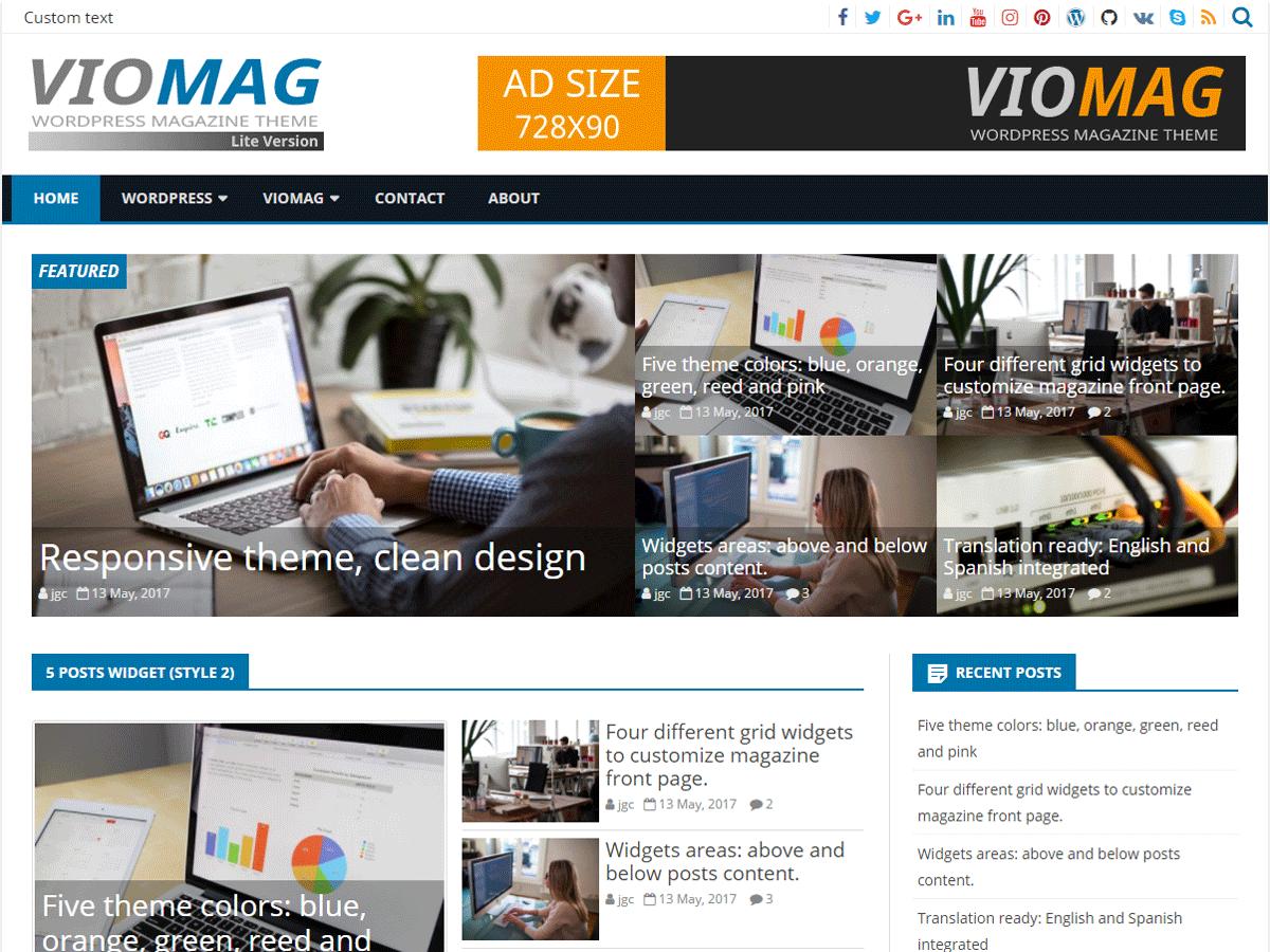 VioMag - новинний шаблон WordPress