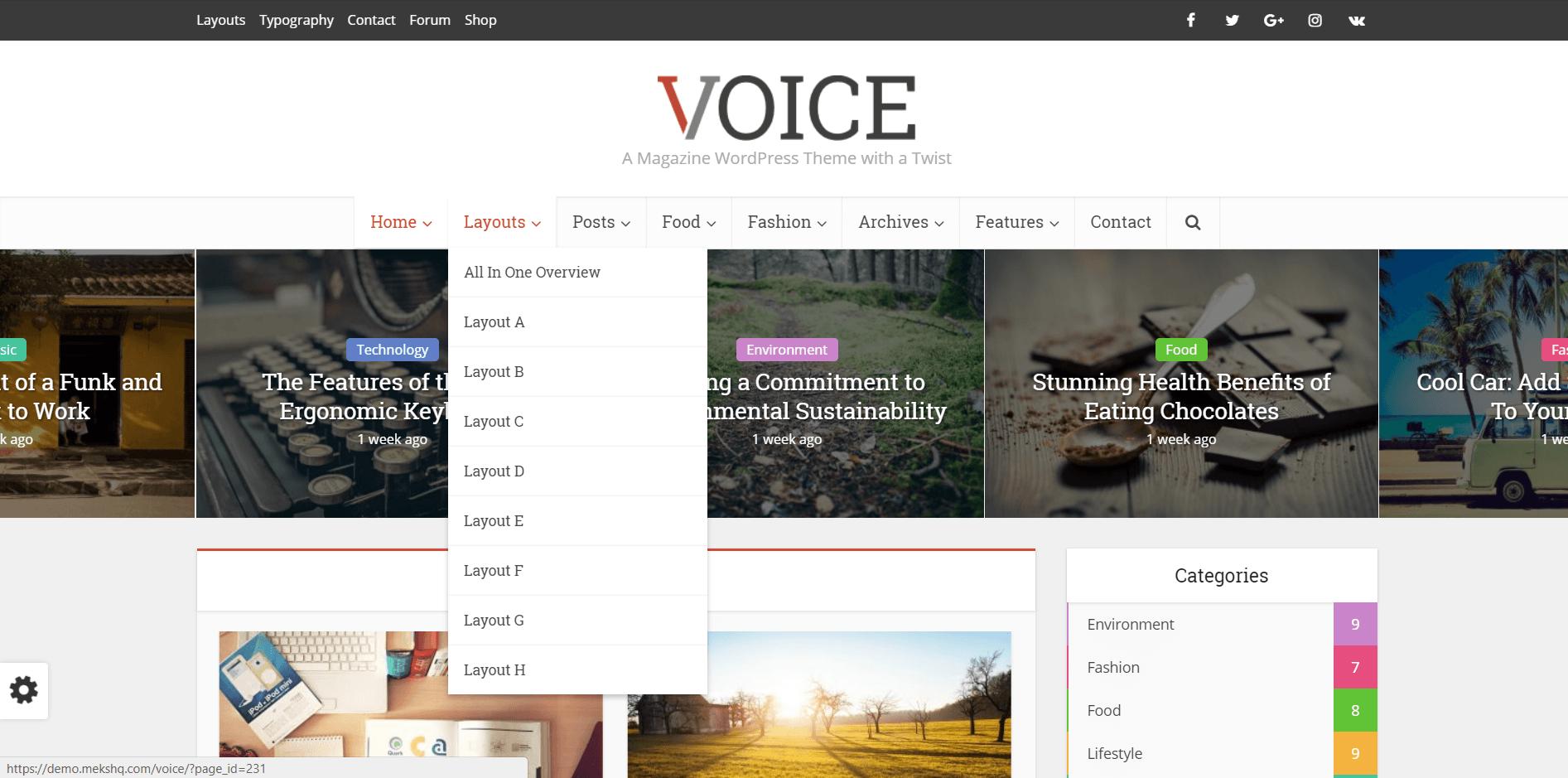 Voice - хороша SEO тема Вордпресс