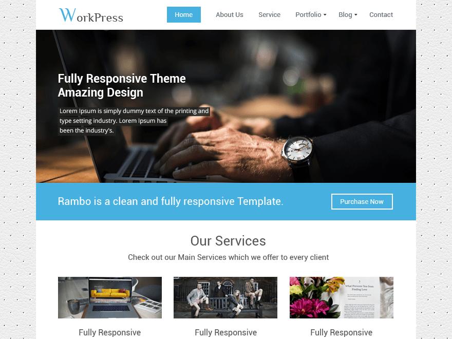 WorkPress - безкоштовний дизайн під сайт